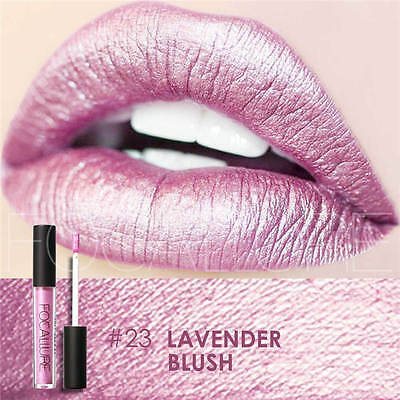 FOCALLURE Waterproof Metallic Lippenstift Lip Gloss Liquid Makeup Lipstick BD