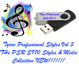 Audacieux Psr S970 Usb-stick + Song Styles Et Midis Volume 3 Plug And Play Usb-afficher Le Titre D'origine Ferme En Structure