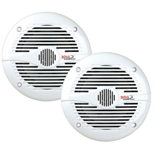 """BOSS MR60W 6-1//2/"""" 2-Way Marine Speaker Pair 200 Watt White"""