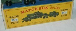 Matchbox Lesney M-3 Tank Transporter and Centurian Repro  Empty Box  D