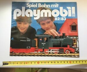 RARE-CATALOGUE-PLAYMOBIL-TRAIN-1982-1983-LEAFLET-FLYER-DEPLIANT-VINTAGE-KLICKY