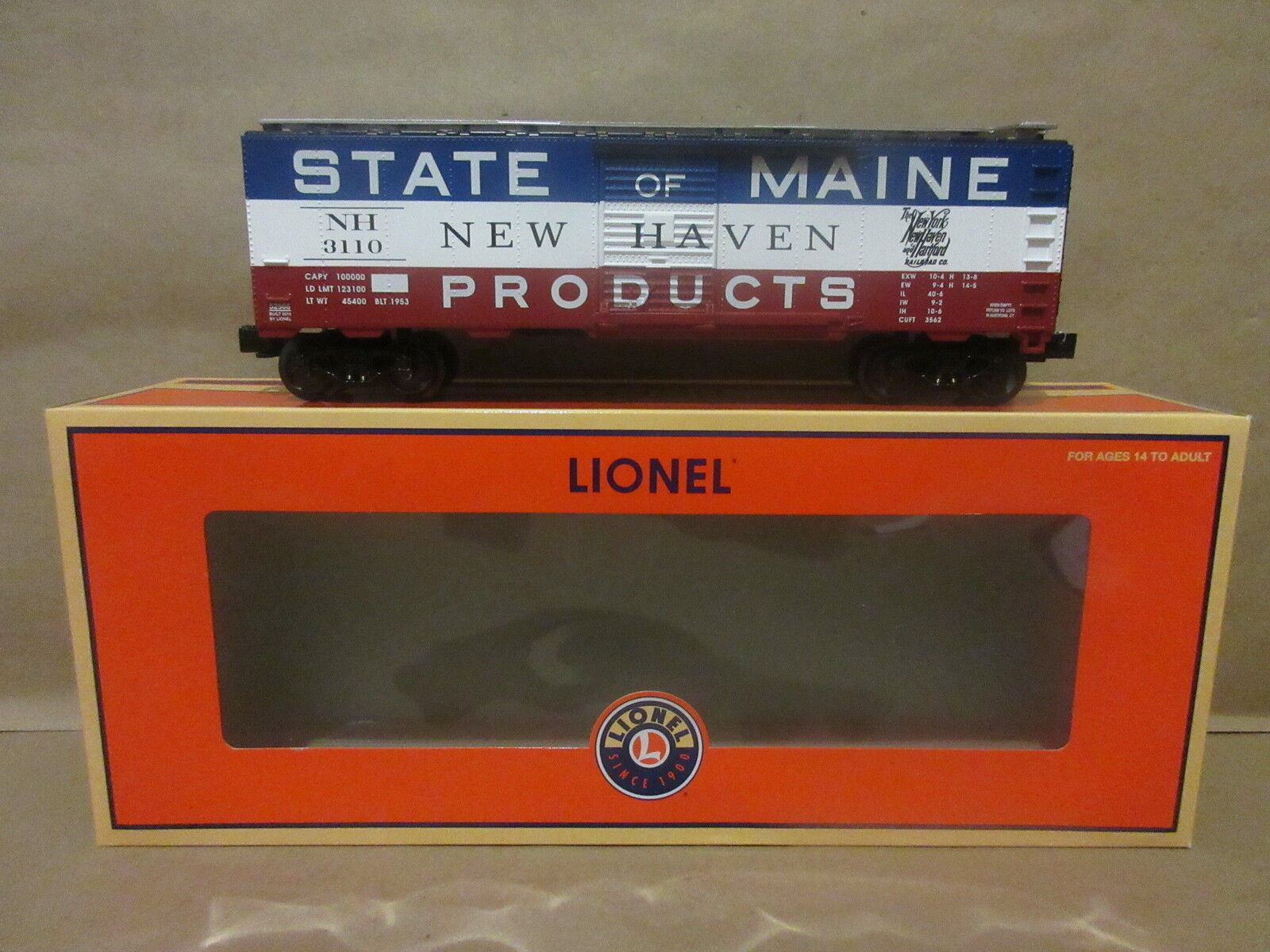 Lionel Trains 6-52566 LOTS 2010 Convention State of Maine Boxcar NY NH HARTFORD