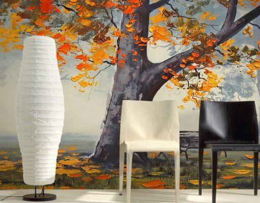 3D Herbst Ahorn 68687 Fototapeten Wandbild Fototapete BildTapete Familie DE
