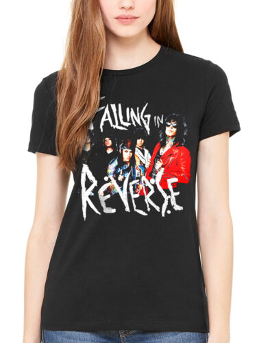Official Falling In Reverse Band Photo Women/'s T-Shirt Rock Band Ronnie Radke