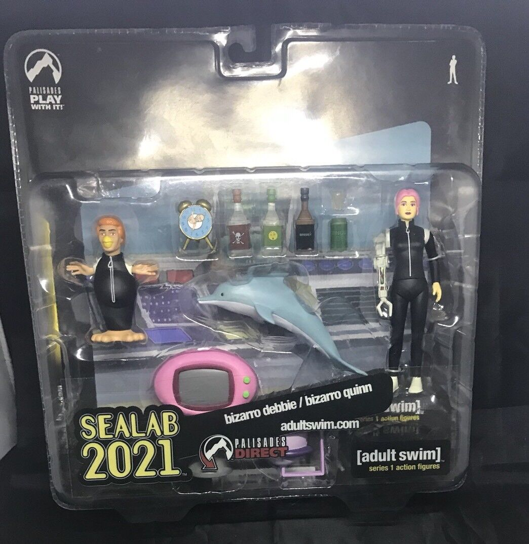 Palisades Adult Swim Action Figure Sealab 2021 Exclusive BIZARRO DEBBIE & QUINN
