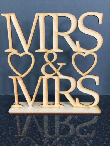 3mm MDF Mrs and Mrs with Stand