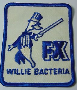 3-034-Old-Vintage-1970s-WILLIE-BACTERIA-FX-UNIFORM-JACKET-GRAPHIC-ADVERTISING-PATCH
