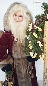 Huge Santa Claus Christmas Statue Decoration Over 4 Ft