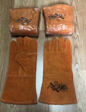 3 Brand New Pairs Weld Pro Leather Welding Gloves Ironworkers Welders Fab Shops