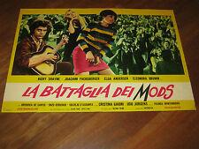 FOTOBUSTA 1966,LA BATTAGLIA DEI MODS,Crazy Baby,Ricky Shayne,MUSICA,ROCK
