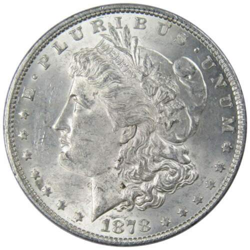 1878 $1 Morgan Silver Dollar 7 Tail Feathers 2nd Reverse AU About Uncirculated