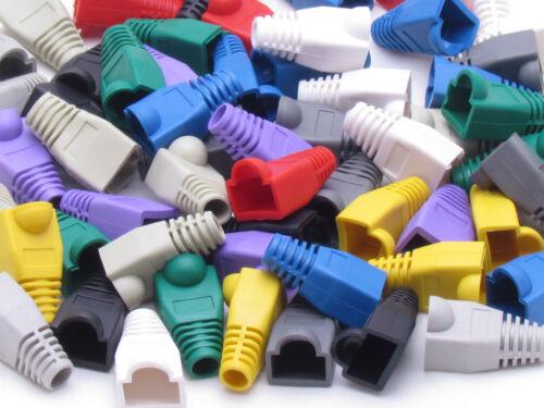 Lot 1000 x Mix Boot RJ45 Connector Modular End Cap Head Cat5 Plug Cat6 Cable 5E