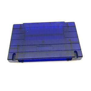 Transparent-Blue-Shell-Cartridge-Case-For-Super-Nintendo-SNES-Snap-On