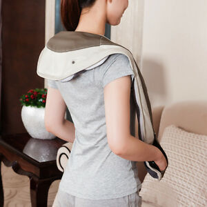 Neck And Shoulder Massager Shiatsu Heat Therapy Kneading