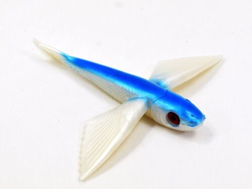 "8/"" Blue and Pearl Flying Fish Yummy Flyer Lure by MagBay Lures Mahi Tuna"