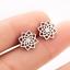 Mandala acero inoxidable aretes pendientes de plata-de colores flor Lotus círculo de la vida