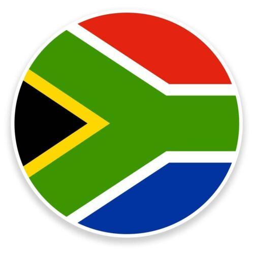 2 x South Africa Flag Vinyl Sticker Travel Car Luggage #9121