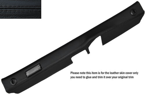 BLACK STITCH REAR BOOT TRUNK PANEL LEATHER SKIN COVER FITS PORSCHE 928 S2 S4