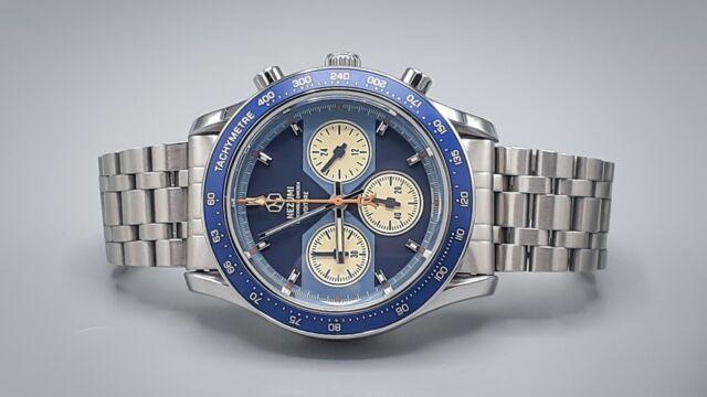 Nezumi Voiture Blue VQ2.601 Mecha-Quartz Chronograph w/ Uncle Seiko Bracelet