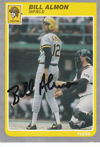 BILL-ALMON-PIRATES-SIGNED-1985-FLEER-U-2-Autograph