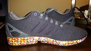 d59e0893d Adidas ZX Flux ONIX Black Digi Prism Sole MultiColor Mono Floral ...