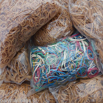 Elastic rubber bands No's 7 8 12 14 16 18 19 22 32 33 34 36 38 63 64 67 69 mix
