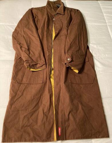Marlboro Country Long Brown Reversible Trench Coat