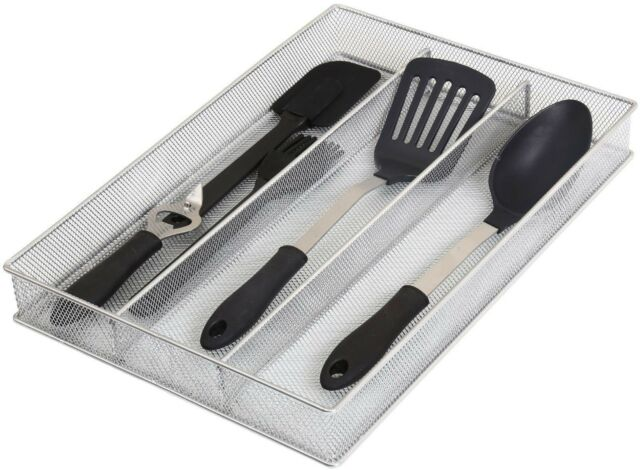 In-Drawer Cutlery and Kitchen Utensil Organizer 3-Compartment