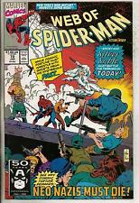 Marvel Comics Web Of Spiderman #72 January 1991 Silver Sable VF+