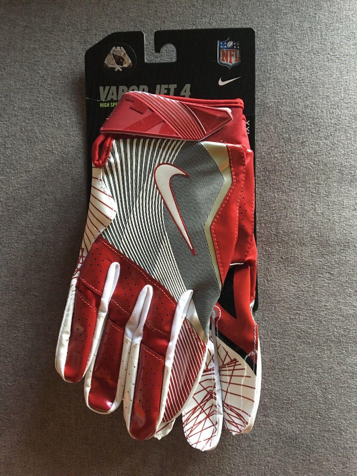 Men S Nike Vapor Jet 4 Nfl Arizona Cardinals Football Gloves Xxl 2xl For Sale Online Ebay