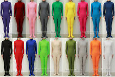 NEW Unisex Spandex Zentai Party Costume Bodysuit Catsuit Unitard No Hood & Hands