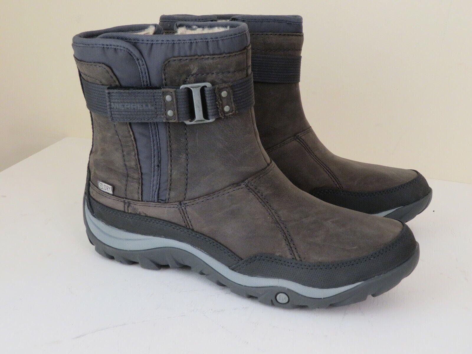 Merrell Impermeable De Cuero Correa De Tobillo botas Murren Estaño Nuevo 7.5