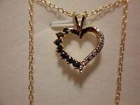 Kanchanaburi Blue Sapphire, Diamond Pendant W/chain 18, 18k Yg Over 925 Silver