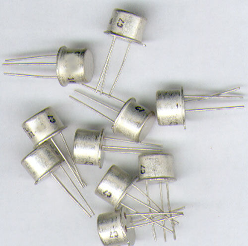 5 x  TRANSISTOR  2N5416  PNP  S//VIDEO   350V 1A  10W /> 50Mhz   TO39  METALL