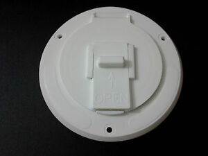 Dumble Deluxe Round Electric Cable Hatch for 30 and 50 Amp RV Electric Cord Black RV Camper Electric Cord Cover