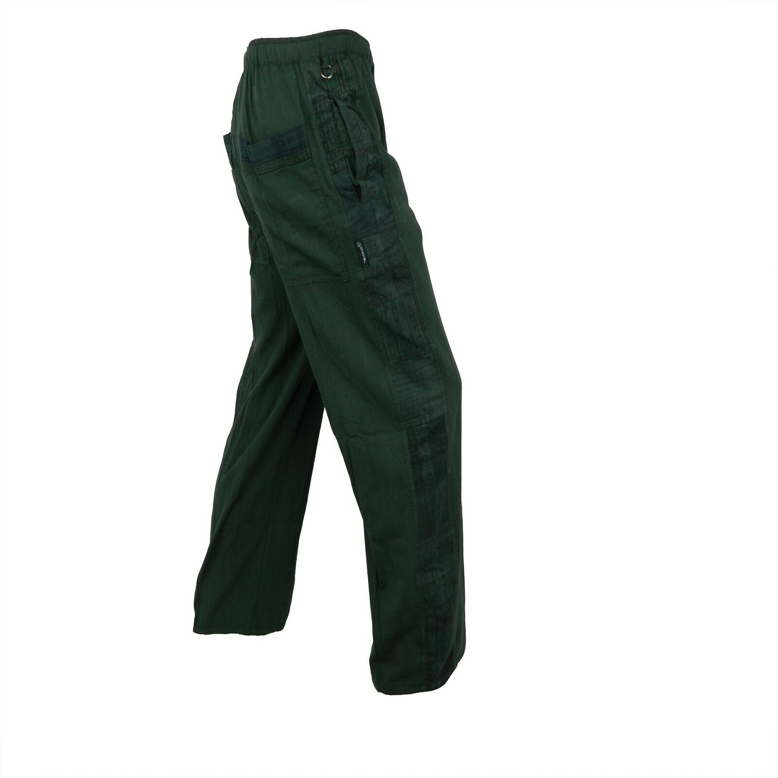 Garment dyed Patchwork Pants with hand woven patches
