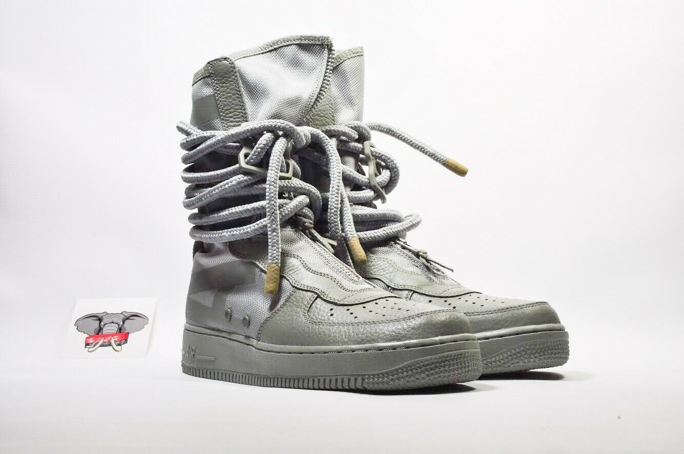 NIKE SF AF1 AIR FORCE 1 HIGH SAGE SAGE SAGE AA1128 201 SIZE 9