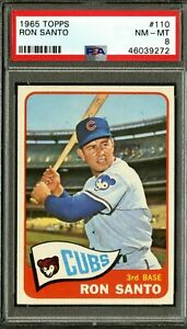 1965-TOPPS-110-RON-SANTO-HOF-CHICAGO-CUBS-PSA-8-NM-MT-CENTERED