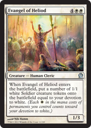 x4 Evangel of Heliod MTG Theros U M//NM English