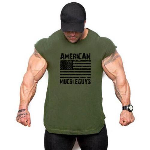 Men/'s Sport Tank Tops Undershirt Bodybuilding Fitness Exercise Vest Sleeveless