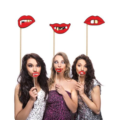"""Photo Booth set 3 pzas /""""locos labios/"""" l props boda revestimiento fotobox"""