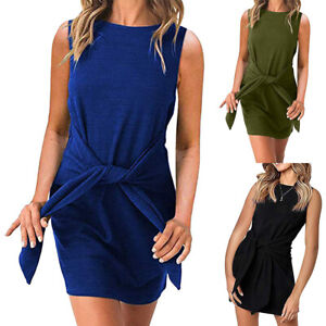 Women-039-s-Sleeveless-Clubwear-Bodycon-Slim-Party-Cocktail-Evening-Mini-Short-Dress