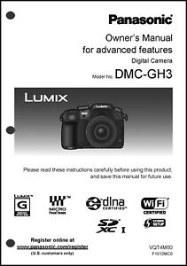 panasonic lumix dmc gh3 advanced camera user guide instruction rh ebay com panasonic 4k camera user manual panasonic ip camera user manual