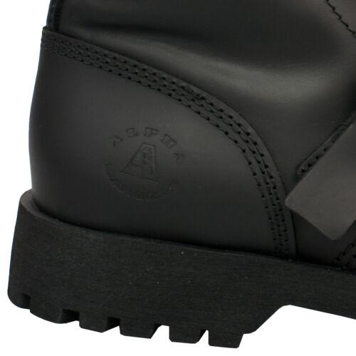 Alpha Rangers 10-loch Boot Schwarz Ranger Unisex  Schnallen Buckles Gothic 5060