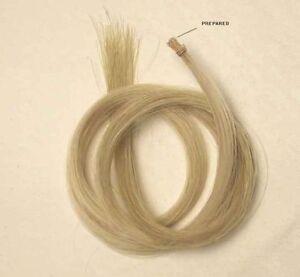 """Confiant Un Hank Finest Homme Blanc 32 """"cheveux Nœud Mongol Mare Lié Sur Fin-afficher Le Titre D'origine"""