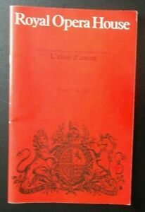 L'elisir d'amore programme Royal Opera House 15 May 1984 Cathryn Pope Luis Lima