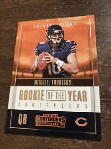 2017 PANINI CONTENDERS ROOKIE OF THE YEAR MITCH TRUBISKY RC BEARS Read PWE