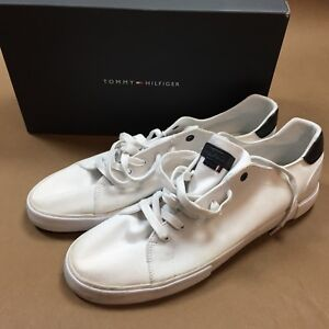 64d1969d4f6101 New box mens tommy hilfiger pawley lo top white canvas sneakers ...