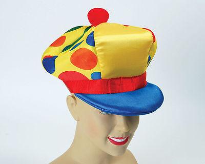 Yellow Spotty Jumbo Clown Hat Cap Circus Panto Fancydress Accessory Onesize