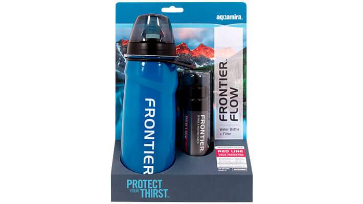 Aquamira Frontier Flow rot Line Filterot Water Bottle Virus Bacteria Cysts